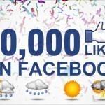 Facebook Dự báo Thời tiết Hà Nội đạt 10.000 like!