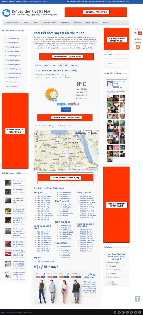 Bảng giá quảng cáo Thoitiethanoi.com