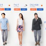 Thời tiết Hà Nội ra mắt tính năng mới: Mặc gì hôm nay?
