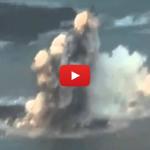 Một hòn đảo mới hình thành do núi lửa phun trào ở Nhật