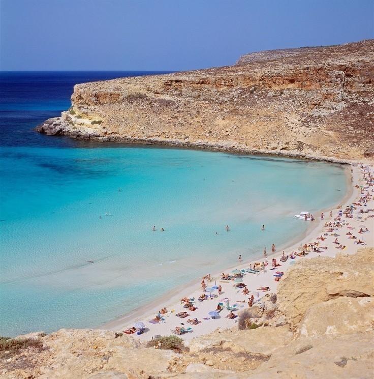 Rabbit Beach,Lampedusa, Islands of Sicily