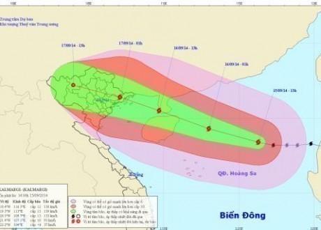 Cập nhật tin bão số 3: bão Kamaegi