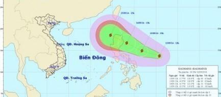 Tin bão gần biển Đông: Bão Kalmaegi