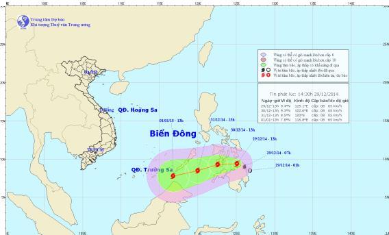 Tin bão gần biển Đông - Bão Jangmi